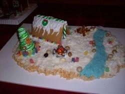 1st place Winter Wonderland Gingerbread Creation
