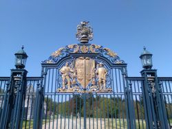 Gates to the big hoose
