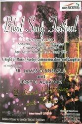 Poster Para sa Bikol Song Festival