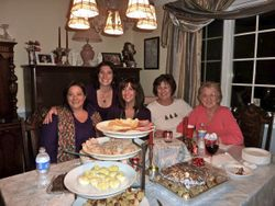 Me and my sisters and Mom at Christmas 2009