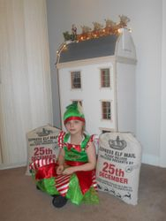 Christmas Elf arrives at Dolls House