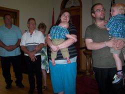 Matt & Danielle Peck dedicate their sons Johnathan & Jonah to the Lord
