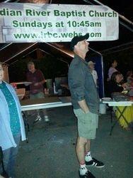 Pastor Dan enjoys the fireworks Saturday night
