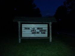 A surprise message on the sign board for us!