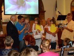 Daniel & Leonna Brundrett dedicate their son Daniel III to the Lord