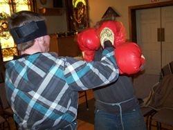 Blindfold Boxing, 4/9/2014