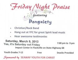 Mar. 9th trip to Flackville YFC Youth Center