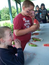"""Kids watermelon eating """"contest"""""""