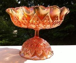Diamond Peaks fluted bowl,  Sowerby