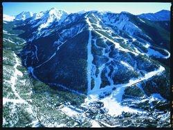 Bird's-eye View of ski trails