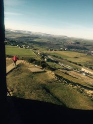 View from Castle Hill with Neil in fore ground