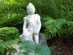 Our Knight on vigil guarding the Gardens