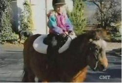 Riding a horse 2