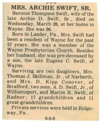 Marjorie's obituary