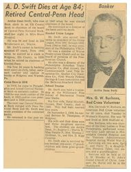 Archie Dean Swift's obituary