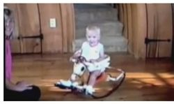 On a rocking horse