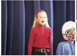 Singing at school