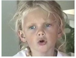 Singing when she was little