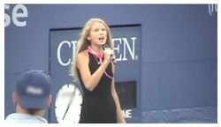 Performing at the US Tennis Open