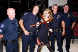 Taylor with cops
