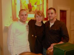 Taylor with her cousins