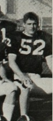 Taylor's dad on the jr. varsity football team close up