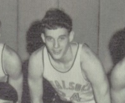 Taylor's dad in junior varsity basketball close up