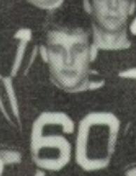 Taylor's dad on the varsity footbal team again close up