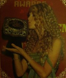 Taylor with her CMT belt