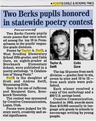 National poetry contest article