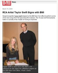 Signing with BMI
