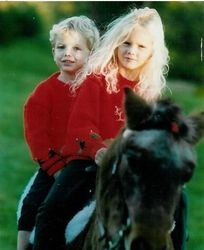 Taylor and Austin on a horse