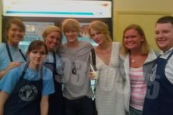 Taylor, Lucas and fans