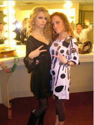Taylor and Abigail in a dressing room