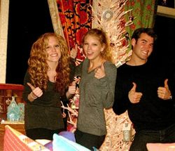 Taylor and Abigail at Christmas