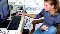 Taylor at her computer
