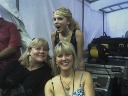 Taylor with her aunt