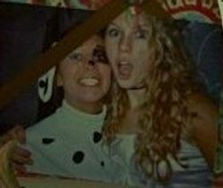 Taylor and Ally on Halloween