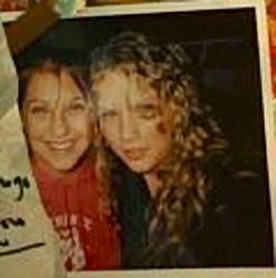 Taylor with a friend at 14