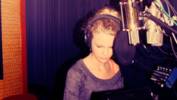 Taylor in the studio at sixteen