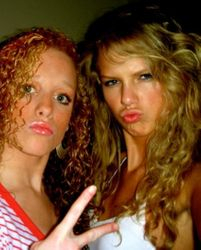 Taylor and Abi at fifteen or sixteen 2