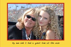 Taylor with her mom at a race