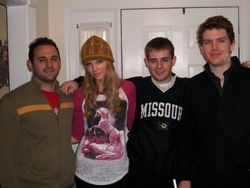 Taylor with her brother and cousins on Thanksgiving 2009