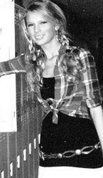 Taylor at her locker