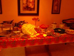(hot side) Catered mexican Bridal Shower