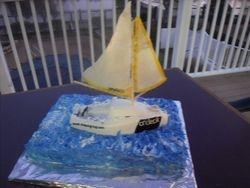 Red Velvet sailboat cake