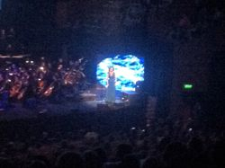 Alex Kingston on stage