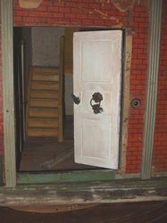 Front door with original bronze hardware