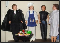 4 versions of the Michael J. Kouri Psychic-Medium doll