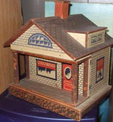 Small Litho over Wood One Room Dollhouse